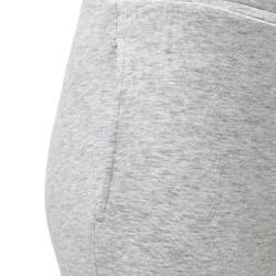 Pantalon coton respirant léger Slim 500 fille GYM ENFANT gris clair uni