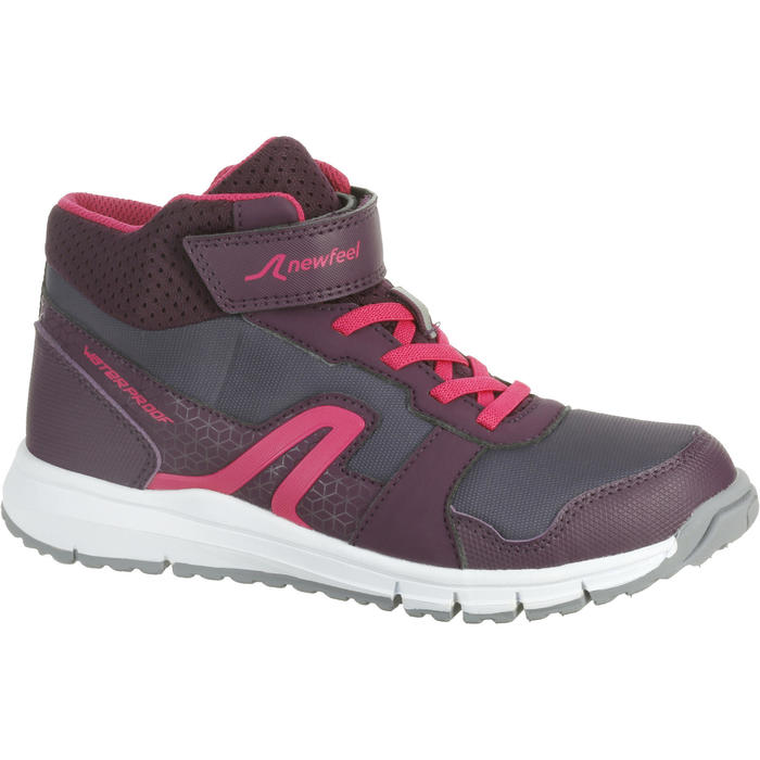 Chaussures marche sportive enfant Protect 580 prune / rose