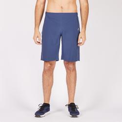 Pantalón Corto chándal Fitnes Cardio Domyos Hombre Azul FST900