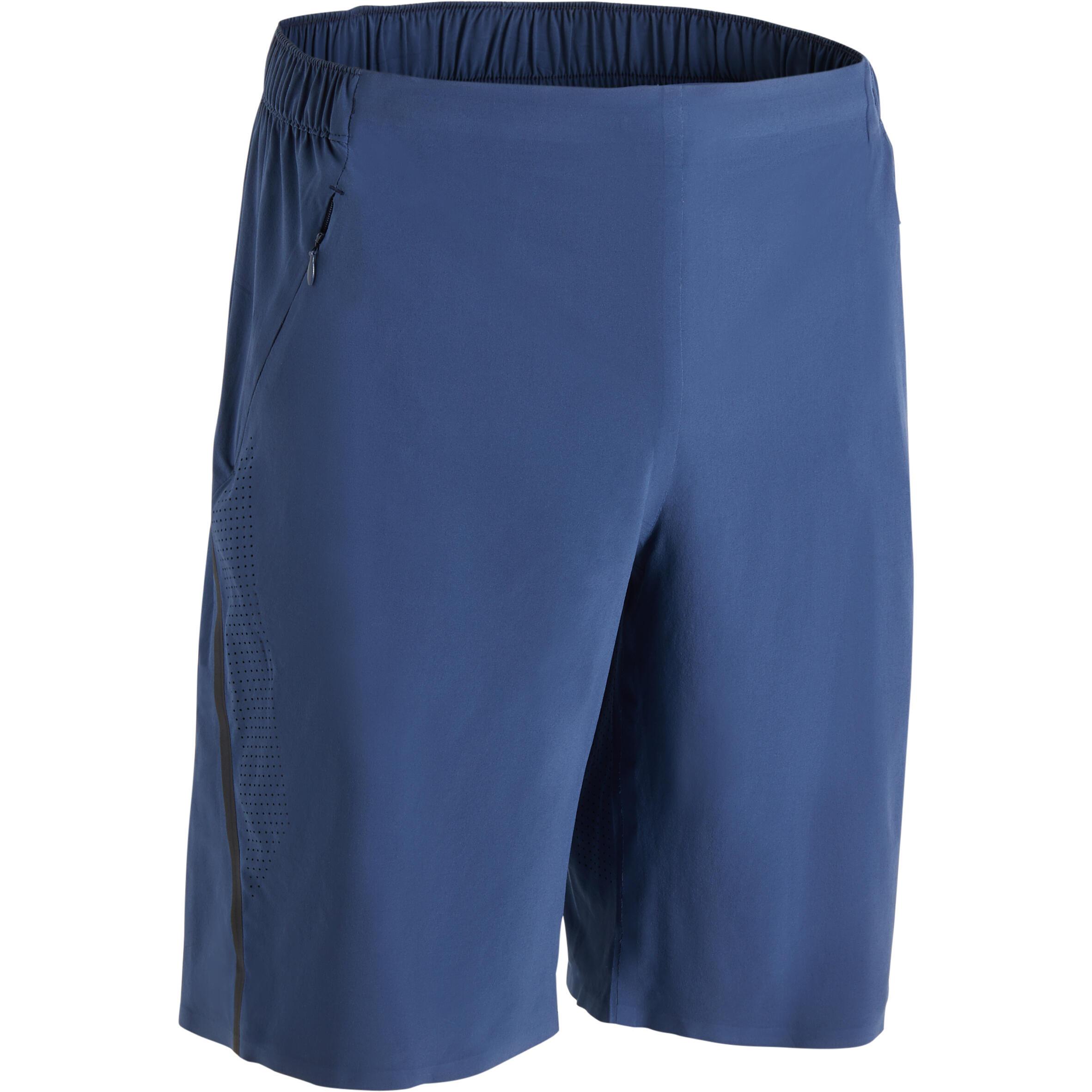 Short entraînement homme bleu gris FST900