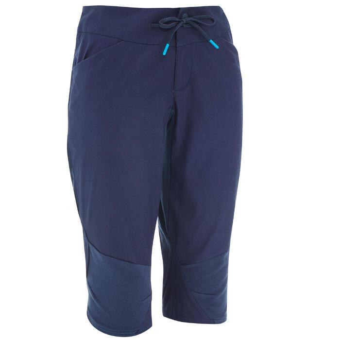 Dames kuitbroek voor natuurwandelen NH500 marineblauw