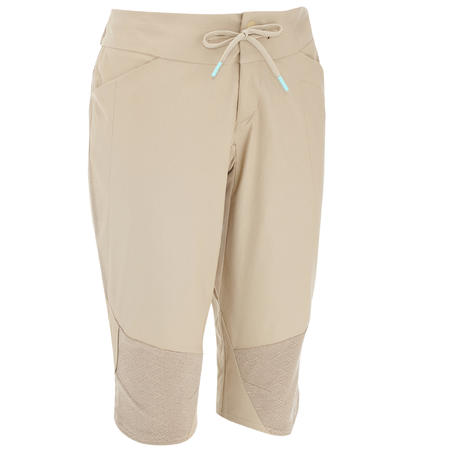 NH500 Fresh Women's Country Walking Cropped Bottom - Beige