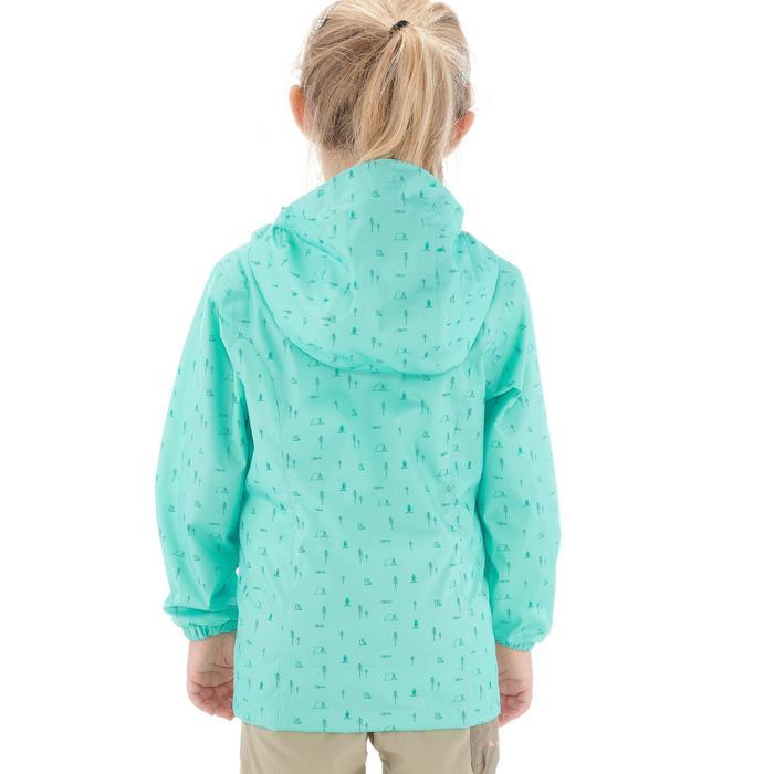 Waterdichte trekkingjas voor kinderen MH500 turquoise