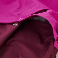 Chaqueta de senderismo impermeable de niños 7-15 años MH500 ciruela