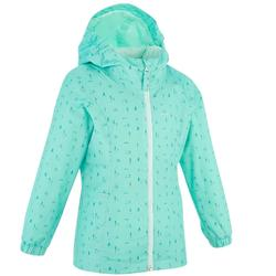 Hike 500 Children's Hiking Jacket - Green