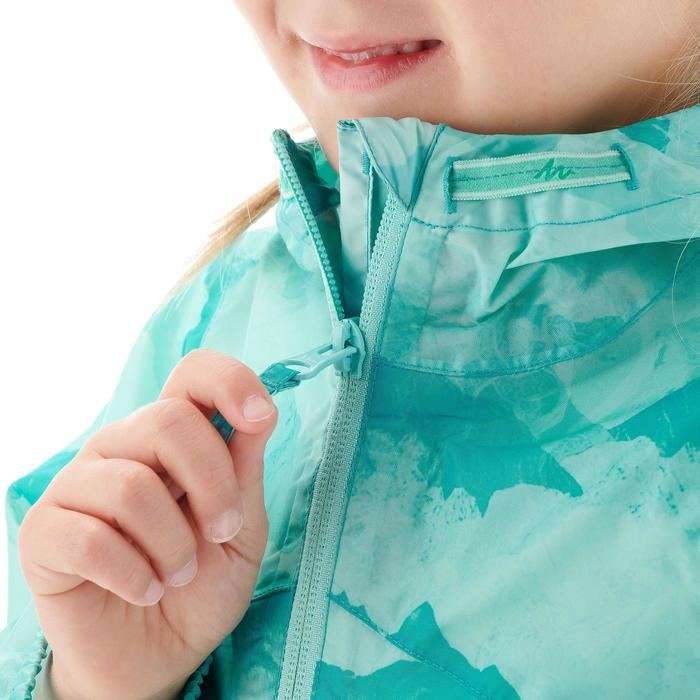 Veste imperméable de randonnée enfant Hike 150 gris imprimé tribal - 1274706