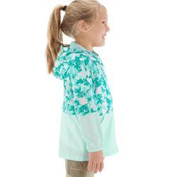男童款防風健行外套Helium-藍綠色