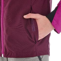 Chaqueta de senderismo impermeable de niños 7-15 años MH500 violeta