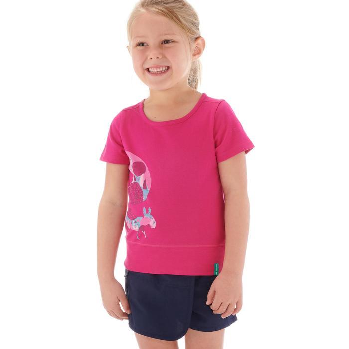 T-Shirt de randonnée enfant fille Hike 500 hibou - 1274724