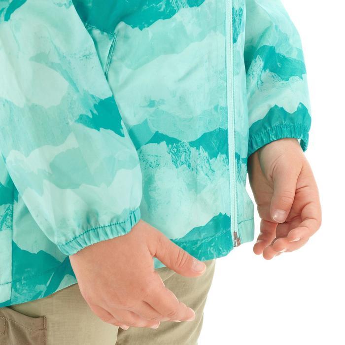 Veste imperméable de randonnée enfant Hike 150 gris imprimé tribal - 1274762