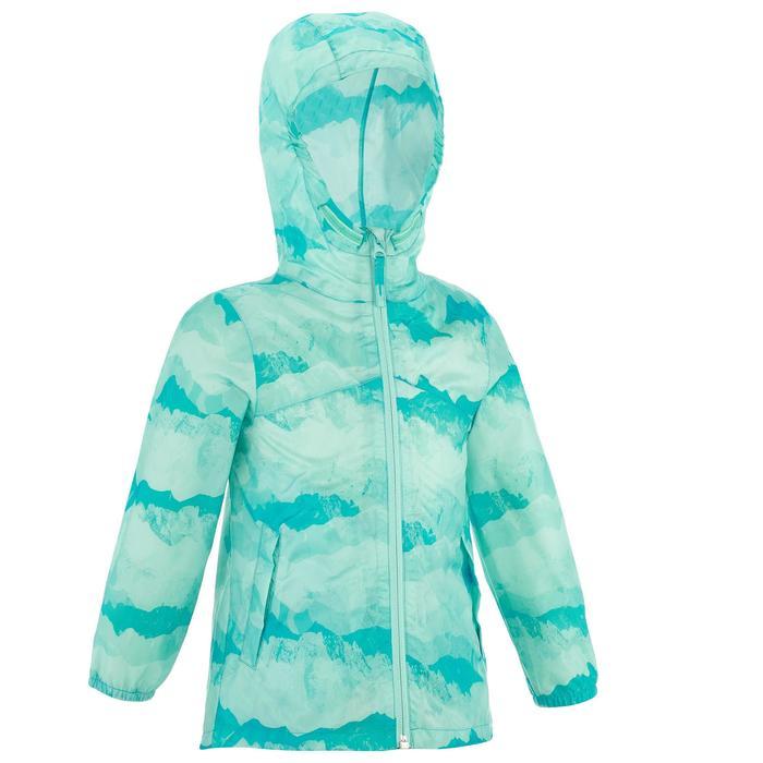 Veste imperméable de randonnée enfant Hike 150 gris imprimé tribal - 1274795