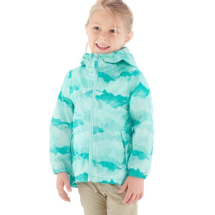 Veste imperméable de randonnée enfant Hike 150 gris imprimé tribal - 1274847