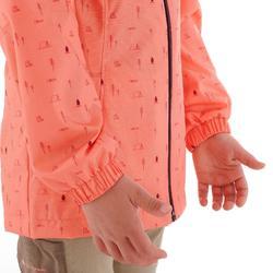 Hike 500 兒童防水健行運動夾克 - 珊瑚色