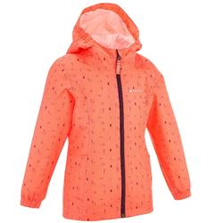 Hike 500 Children's Hiking Jacket - Coral