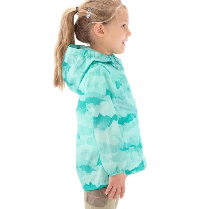 Veste imperméable de randonnée enfant Hike 150 gris imprimé tribal - 1274866
