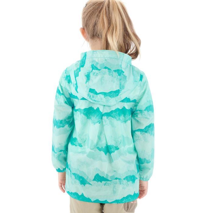 Veste imperméable de randonnée enfant Hike 150 gris imprimé tribal - 1274881