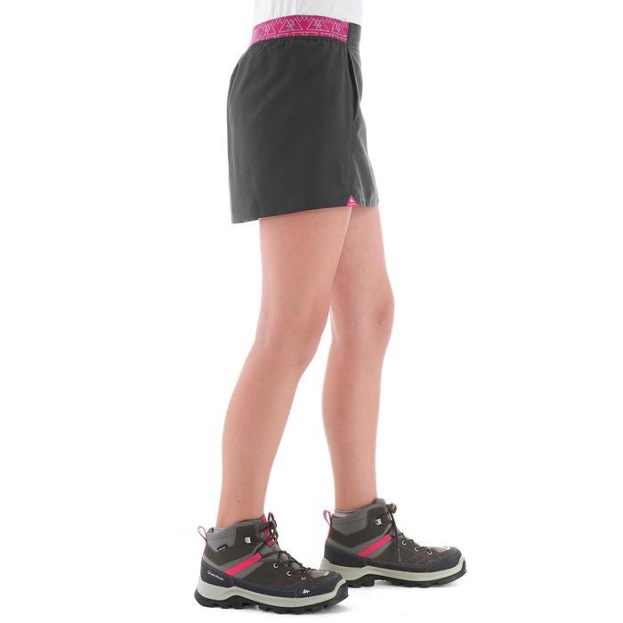 Jupe short de randonnée enfant Hike 100 gris et rose