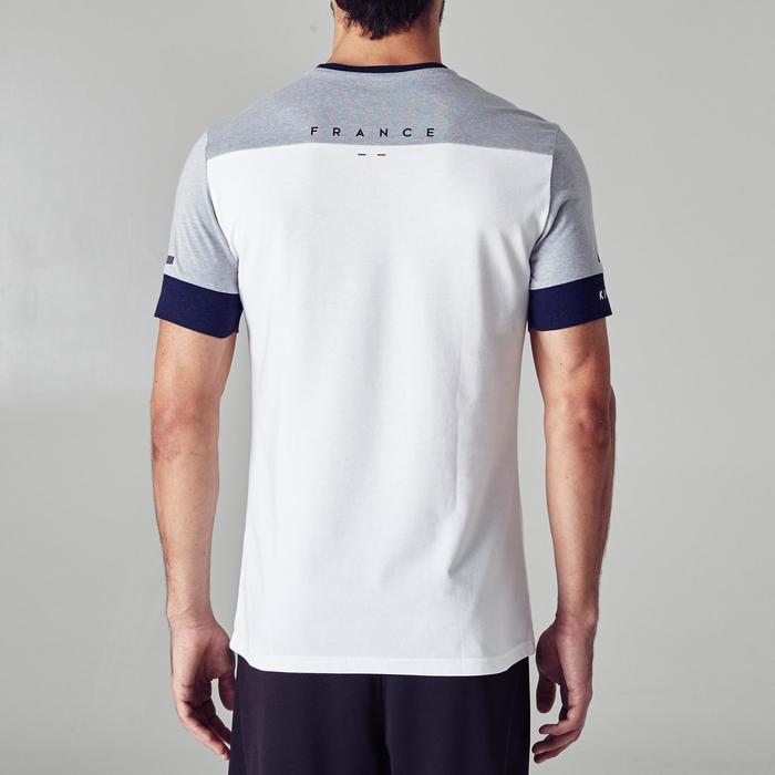 T-shirt de football adulte FF1100 France blanc gris chiné