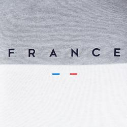 Camiseta de Fútbol adulto Kipsta FF100 Francia blanco gris jaspeado