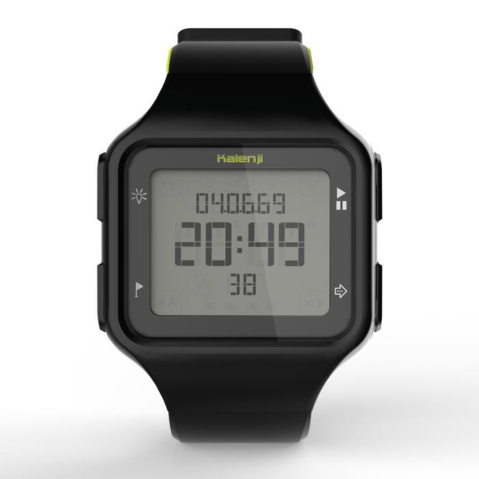 Montre chronomètre de course à pied homme W500+ M noire - 1275076