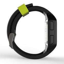 Montre chronomètre de course à pied homme W500+ M noire jaune