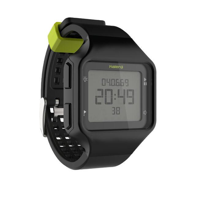 W500+ M men's running stopwatch black yellow
