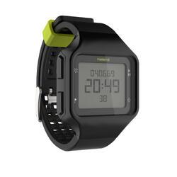 Hardloophorloge met stopwatch heren W500+ M zwart geel