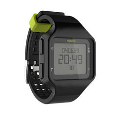 W500+ M men's running stopwatch black yellow