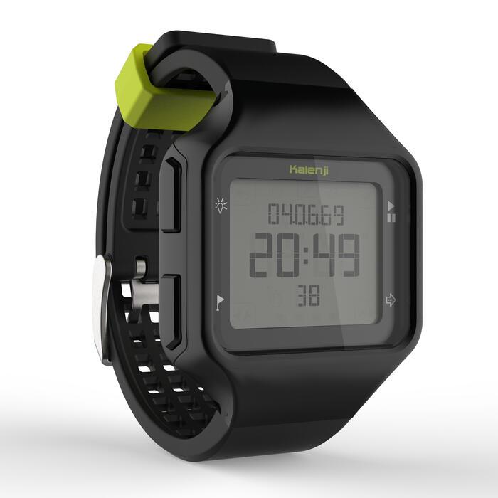 Montre chronomètre de course à pied homme W500+ M noire - 1275081