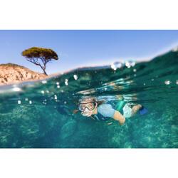 Snorkelset met duikbril, zwemvliezen en snorkel SNK 500 voor volw. blauw/zwart