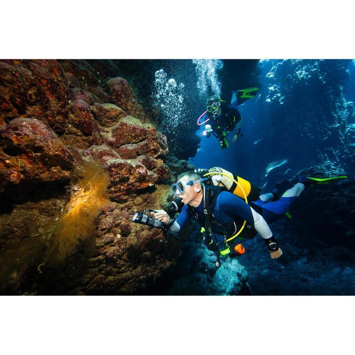 Masque de plongée sous-marine en bouteille SCD500 jupe bleue cerclage - 1275102