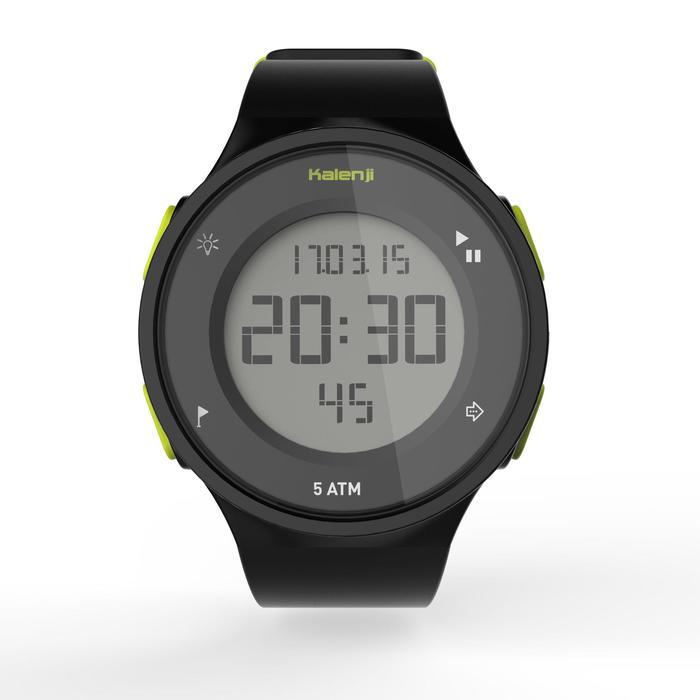 Montre chronomètre de course à pied homme W500 M noire reverse - 1275116