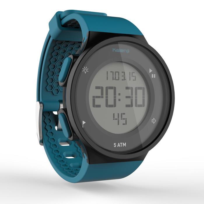 Montre chronomètre de course à pied homme W500 M noire reverse - 1275117