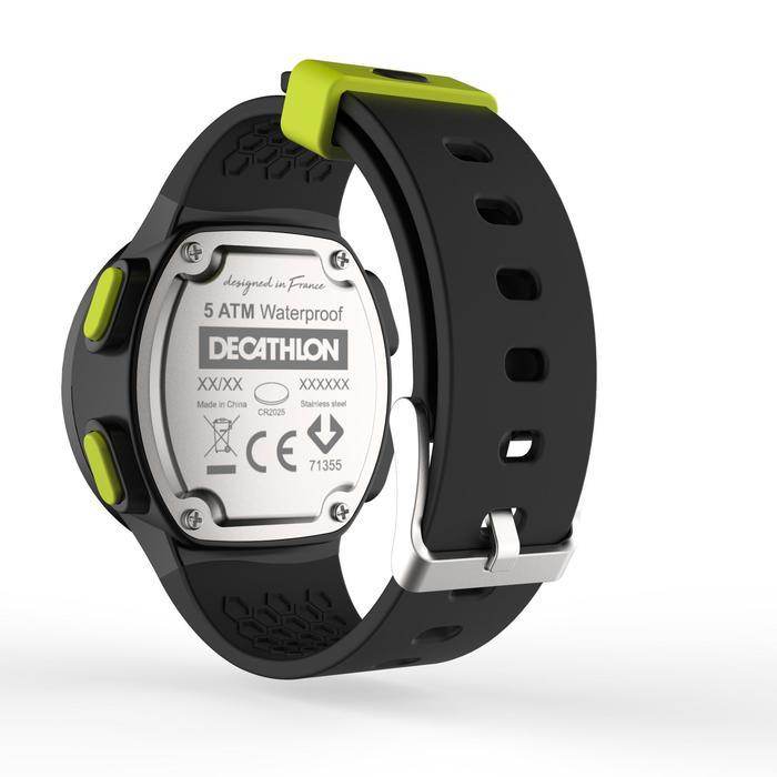 Montre chronomètre de course à pied homme W500 M noire reverse - 1275118