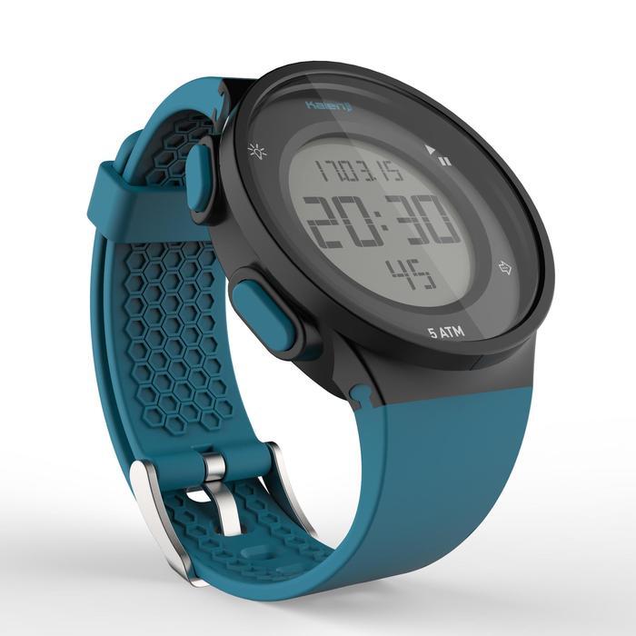 Montre chronomètre de course à pied homme W500 M noire reverse - 1275119