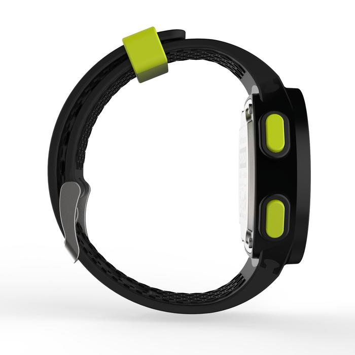 Montre chronomètre de course à pied homme W500 M noire reverse - 1275123