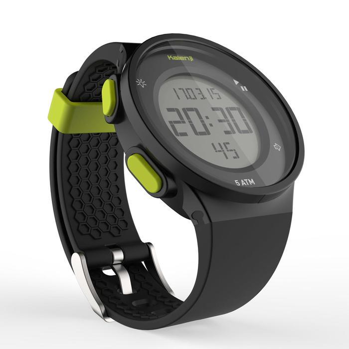Montre chronomètre de course à pied homme W500 M noire reverse - 1275124
