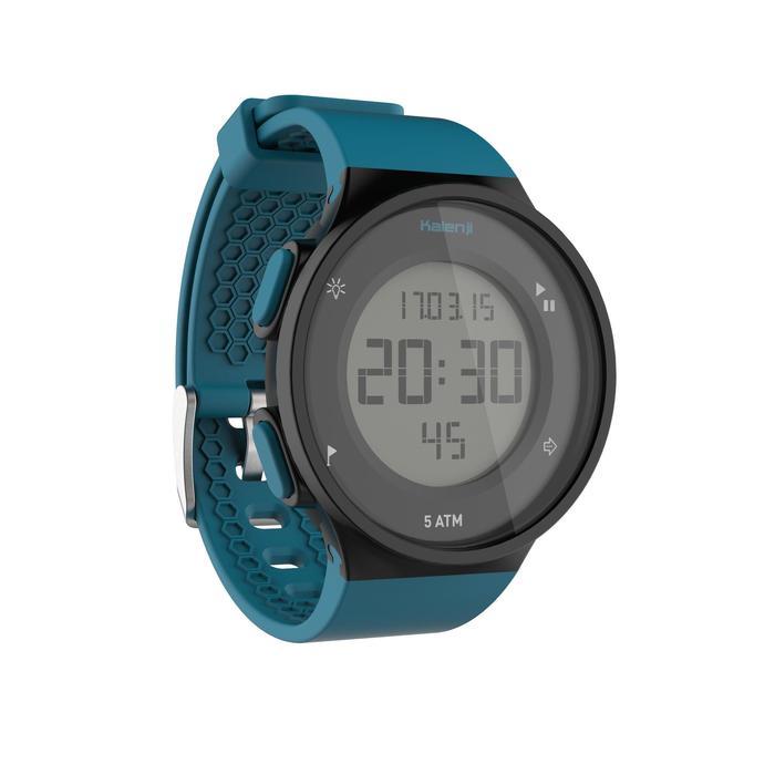 Montre chronomètre de course à pied W500 M noire et verte