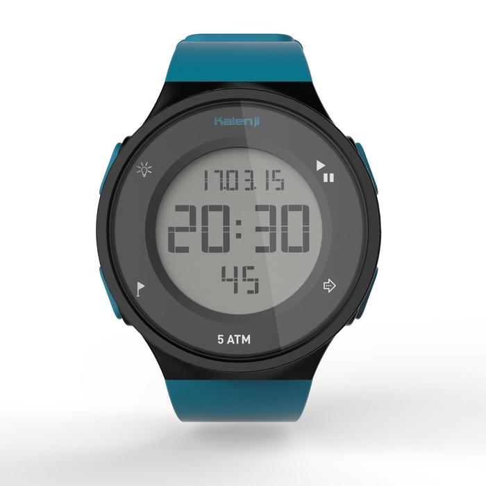 Montre chronomètre de course à pied homme W500 M noire reverse - 1275129