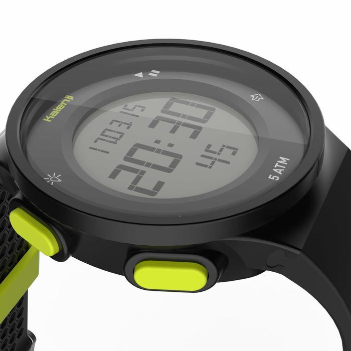 Montre chronomètre de course à pied homme W500 M noire reverse - 1275130