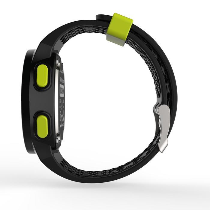 Montre chronomètre de course à pied homme W500 M noire reverse - 1275132