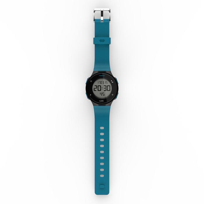 Montre chronomètre de course à pied homme W500 M noire reverse - 1275135