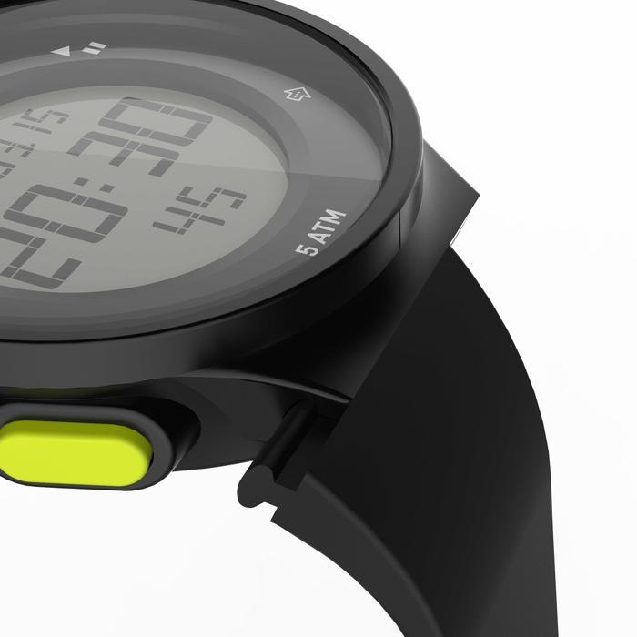 Montre chronomètre de course à pied homme W500 M noire reverse - 1275137