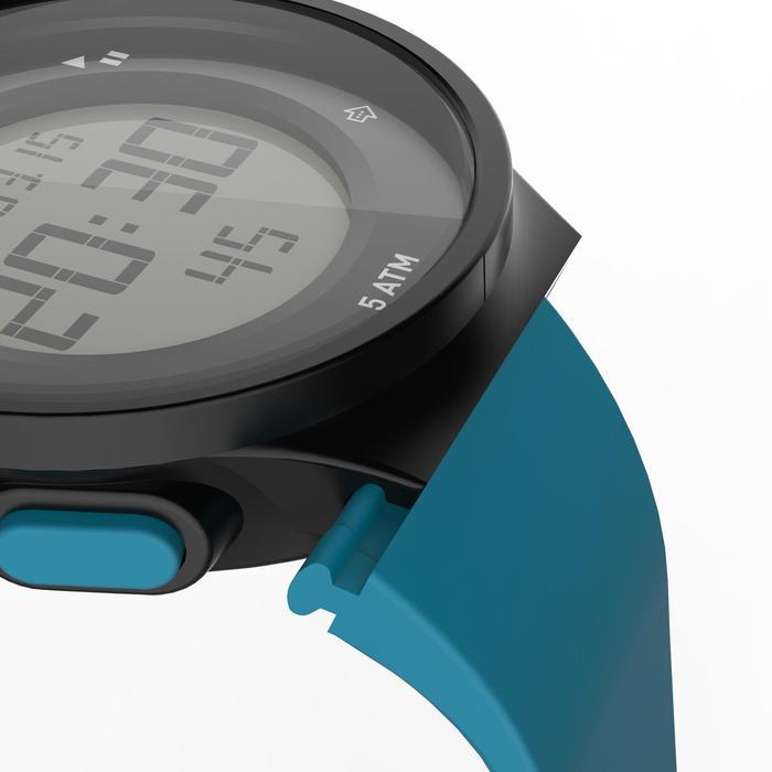 Montre chronomètre de course à pied homme W500 M noire reverse - 1275138