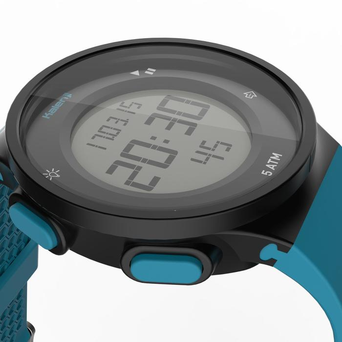 Montre chronomètre de course à pied homme W500 M noire reverse - 1275140