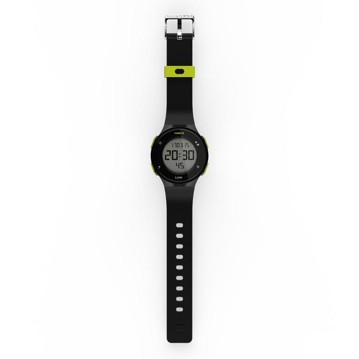 Montre chronomètre de course à pied homme W500 M noire reverse - 1275144