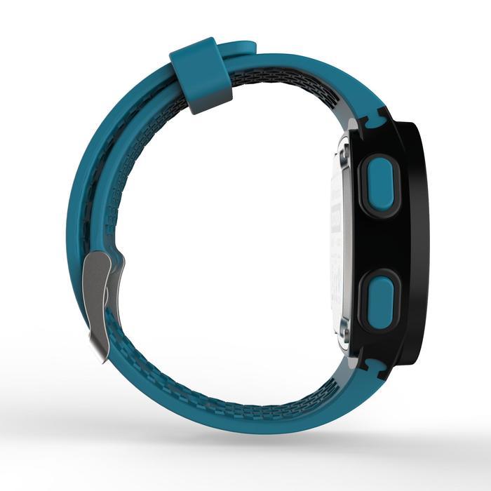 Hardloophorloge met stopwatch W500 M blauw zwart en groen