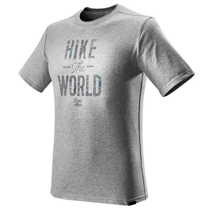 Tee shirt randonnée nature homme NH500 chiné - 1275162