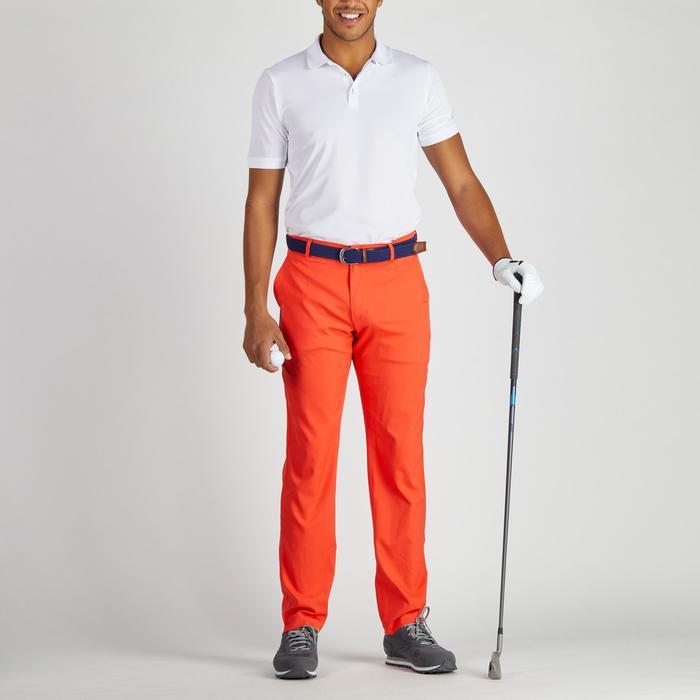 Golfbroek 900 voor heren, warm weer, rood
