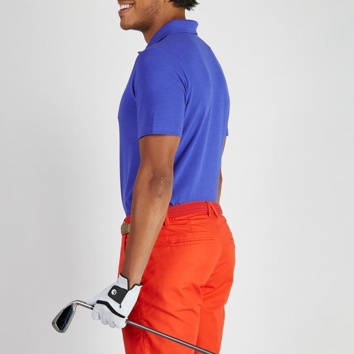 Golf Poloshirt 500 Kurzarm Herren mildwarm blau meliert